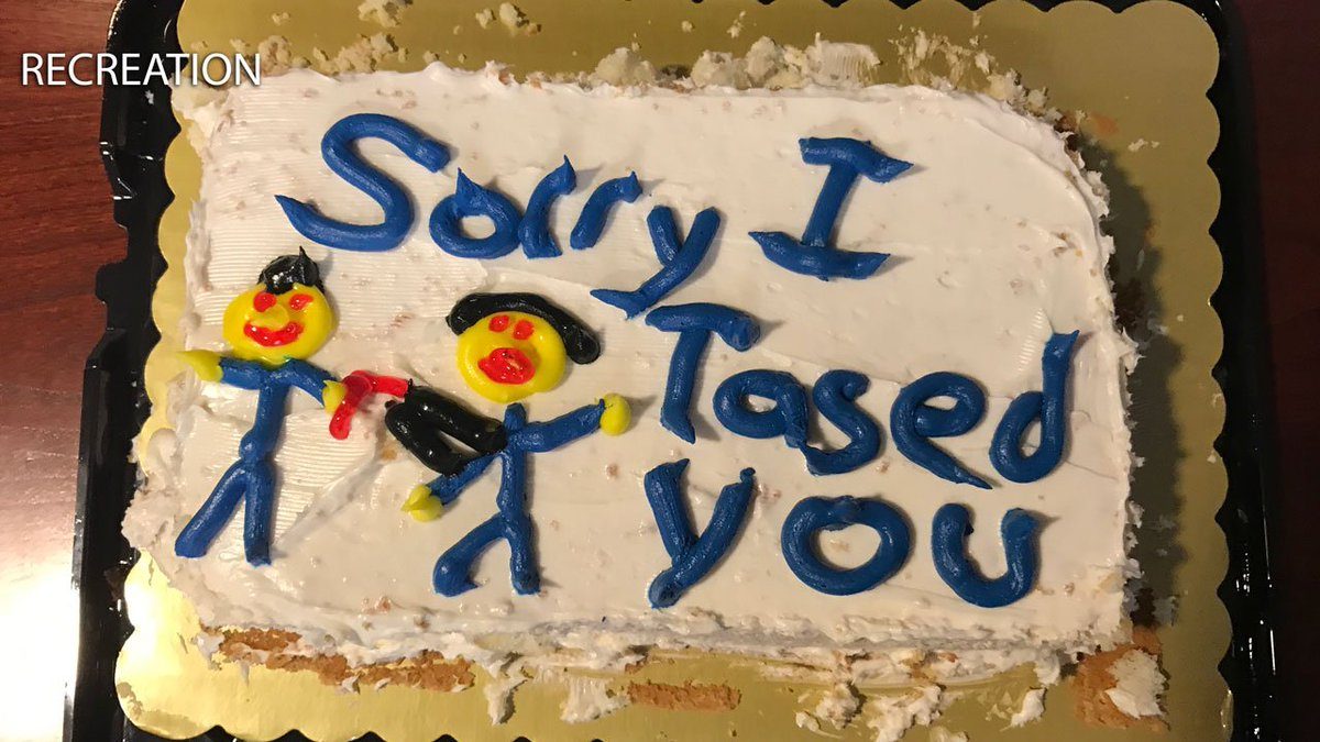 Sometimes a 'Sorry I Tased You' cake just isn't enough
