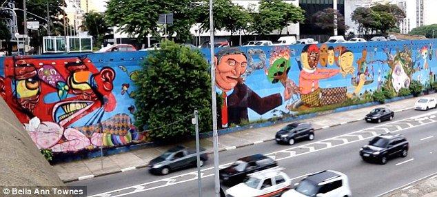 Este é o mural da 23 de maio que a Marta chama de ~vandalismo~ #DebateGloboSP #ViradaHaddad13