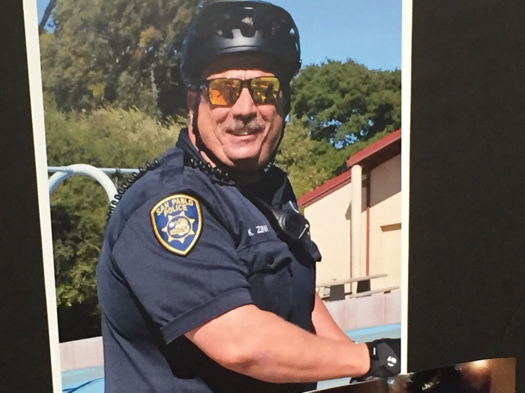 RIPZink @SanPabloPolice officer died in crash on his way to work this morning.