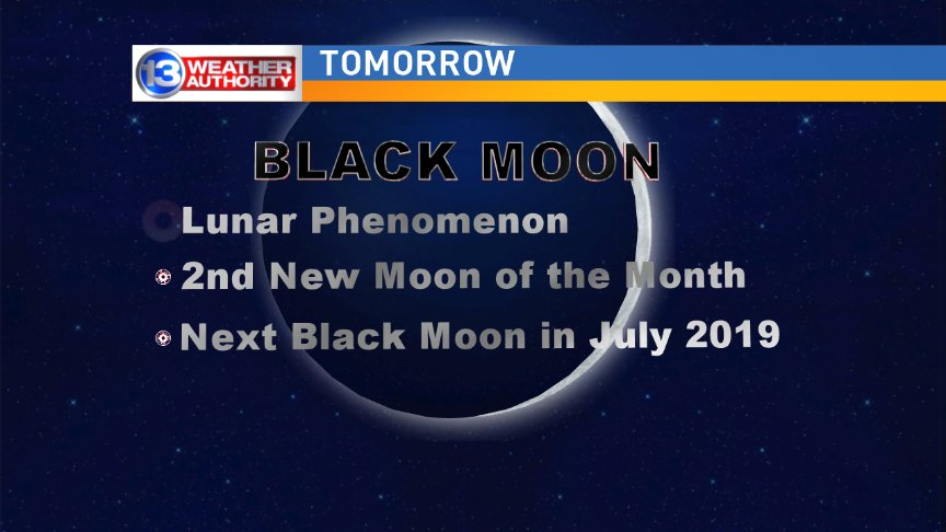 Ever heard of a Black Moon? Well here you go!
