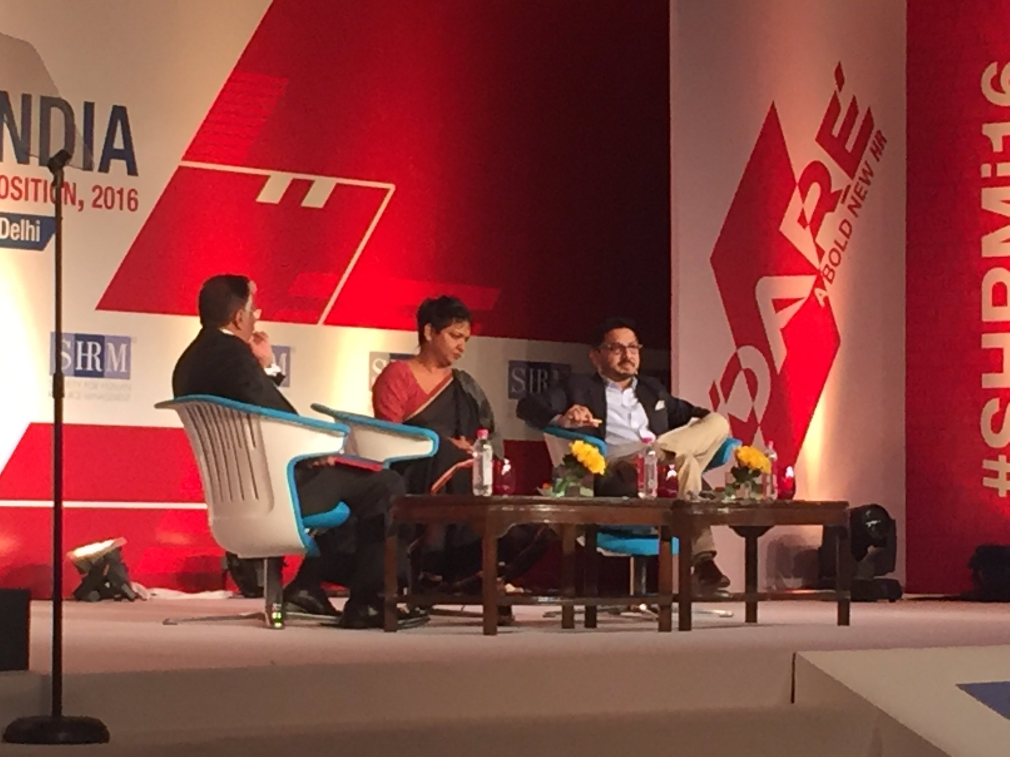 Day 2 begins with a panel discussion  on artificial intelligence! #SHRMI16 Session partner @SpireTalentSHIP https://t.co/aBF34dGCNE