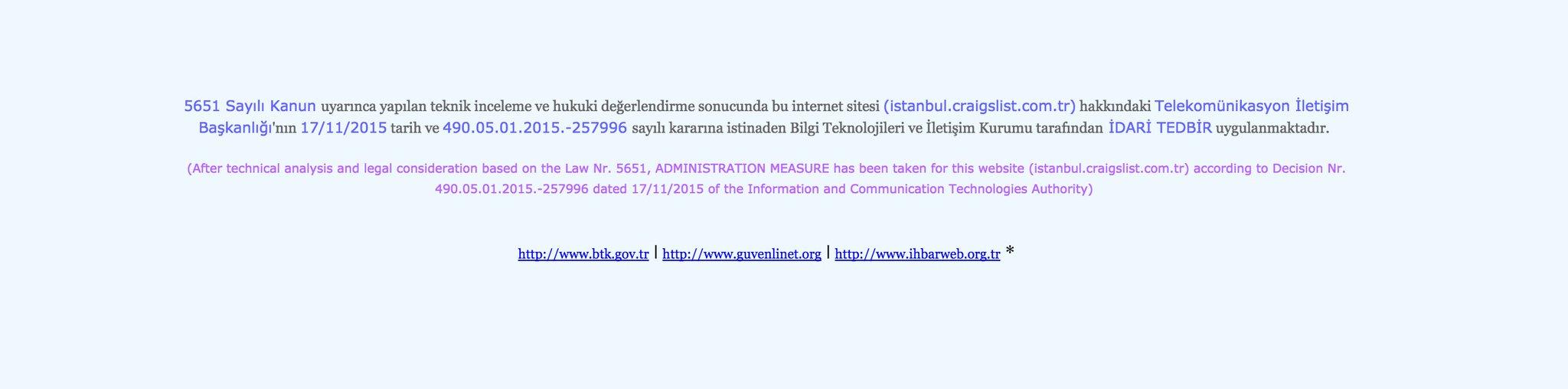 Craigslist istanbul