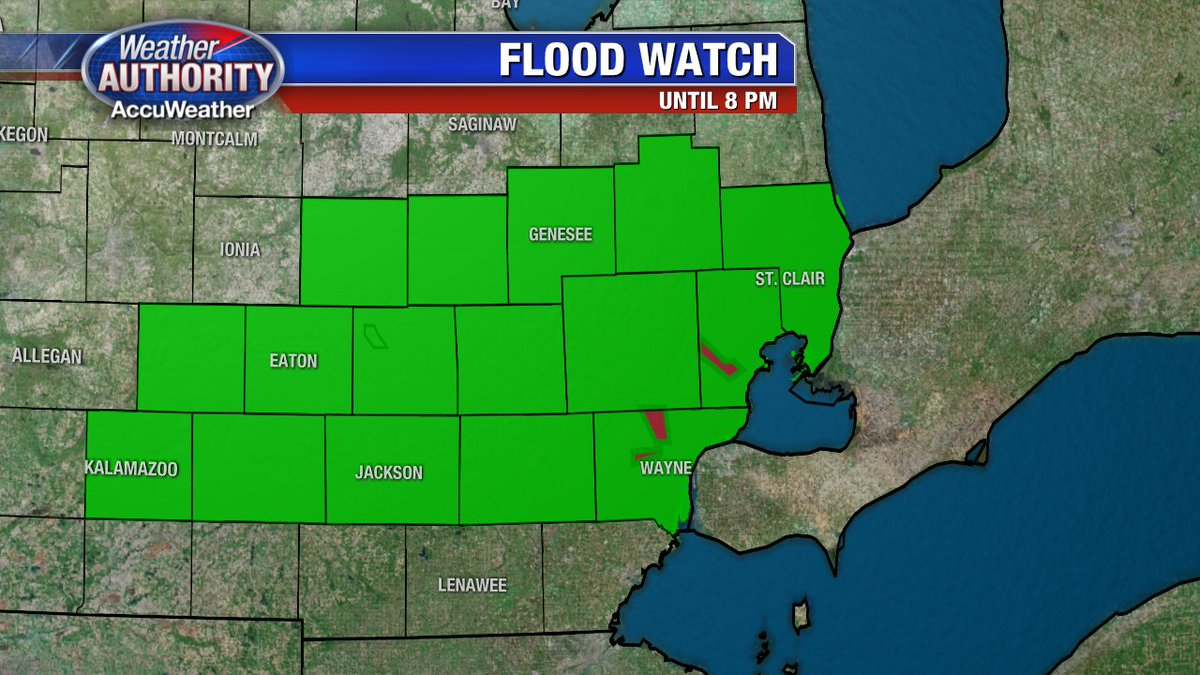 Flood Watch this morning as the potential for more flooding exists with bands of rain in the area. Be Safe!