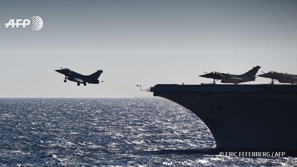 Интенсивность боевой работы авиагруппы авианосца Charles de Gaulle осенью 2016 года
