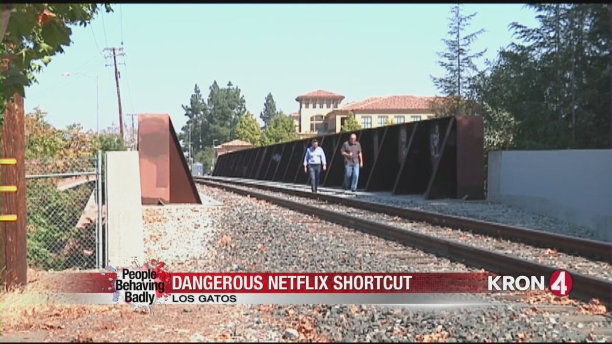People Behaving Badly: Dangerous Netflix shortcut in Los Gatos. @SRobertsKRON4 reports.