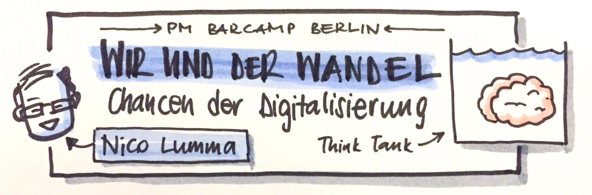 Chancen der Digitalisierung - @nico spricht zu den Projektmanagement-Nerds auf dem #PMcampBER https://t.co/ZH1JPvRDSA