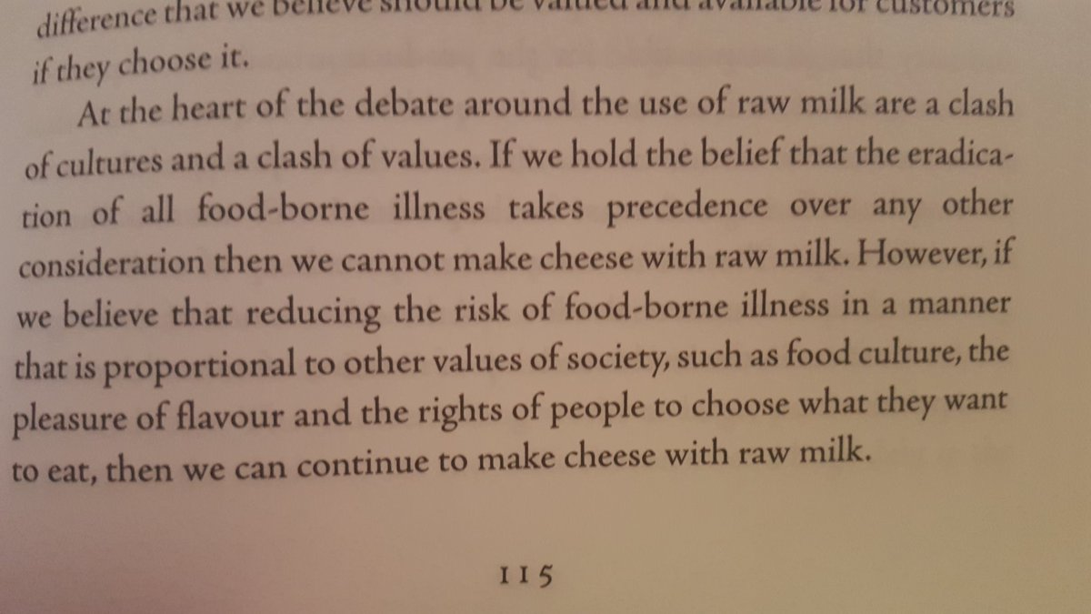 The raw milk cheese debate summed up in one beautiful paragraph by @SheridansCheese https://t.co/zflTlCQieo