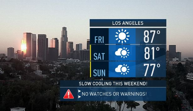 It will be a cooler start to October. Below normal temps arrive by late weekend, early next week. @NBCLA
