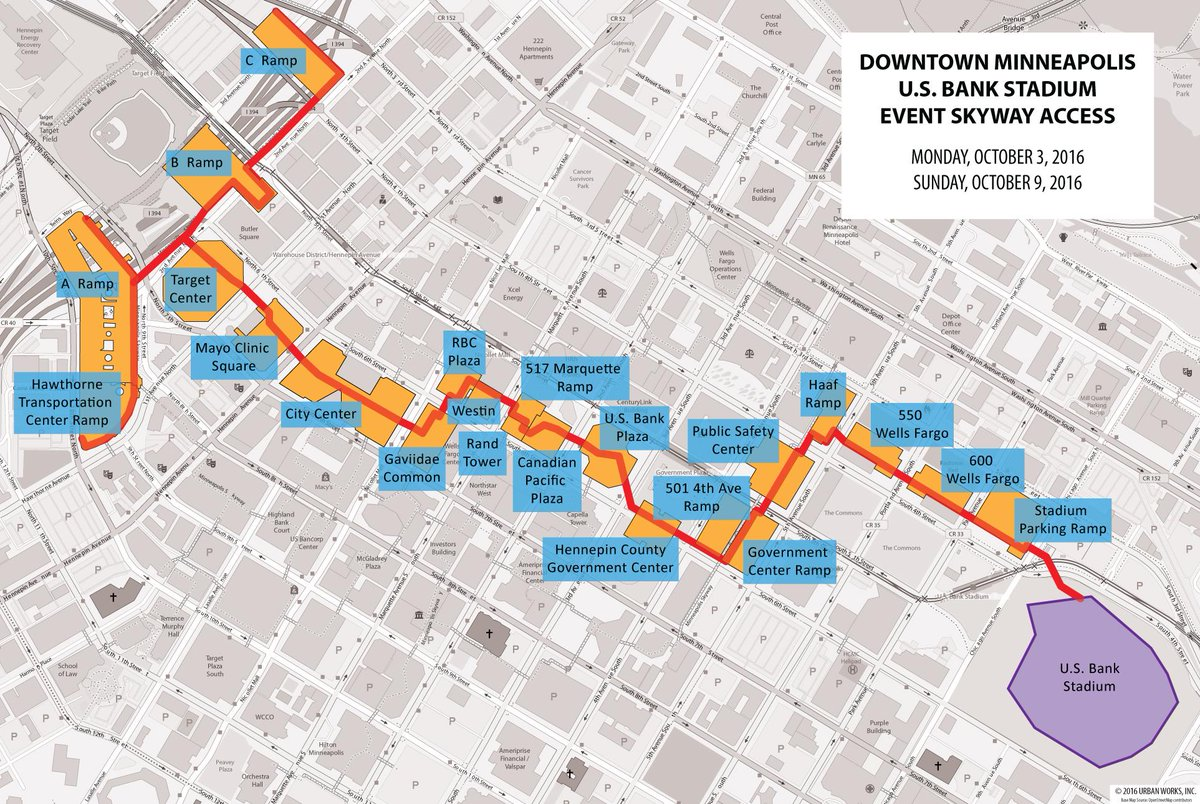 minnesota vikings on twitter a route within the downtown minneapolis skyway system will be available to fans for the next two home games