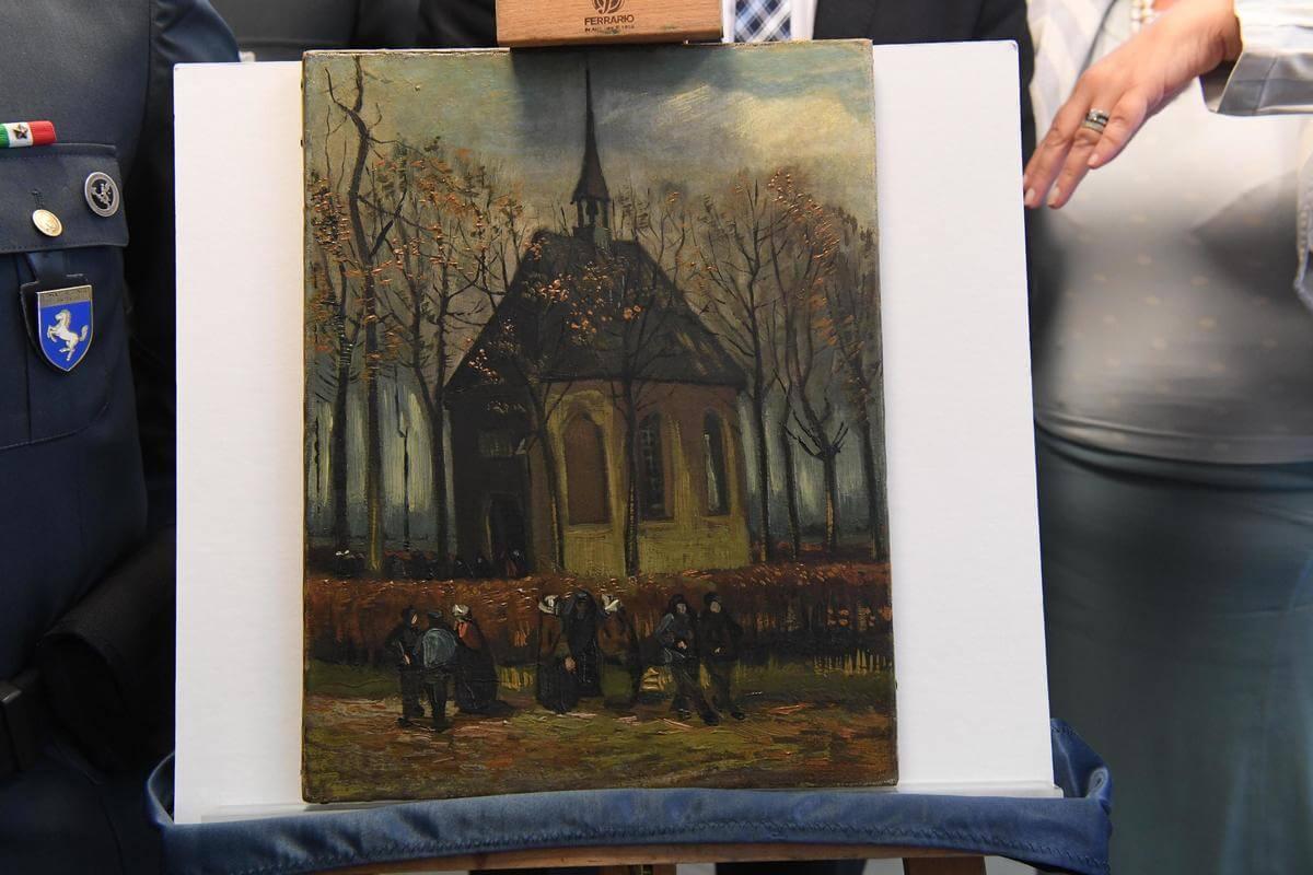 2 Van Gogh paintings recovered by Italian anti-Mafia police