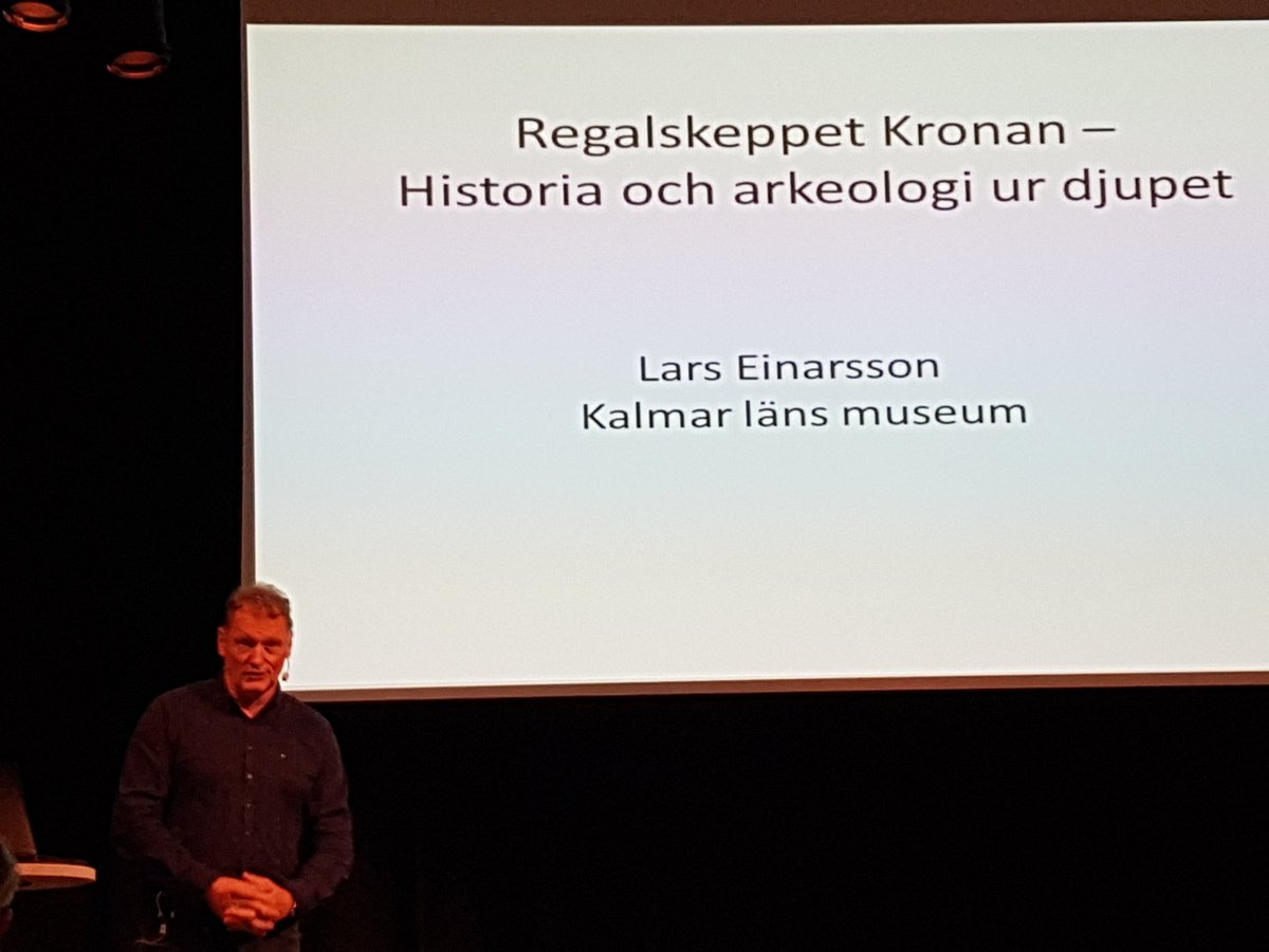 RT @pkristensson: Nu Lars Einarsson från @kalmarmus om Regalskeppet Kronan. #dsh16 https://t.co/sSibJtwTPg