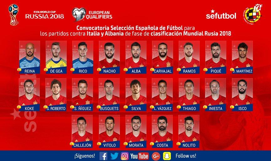Convocatoria España para los partidos contra Italia y Albania CtmCc4_WcAA6Mlx