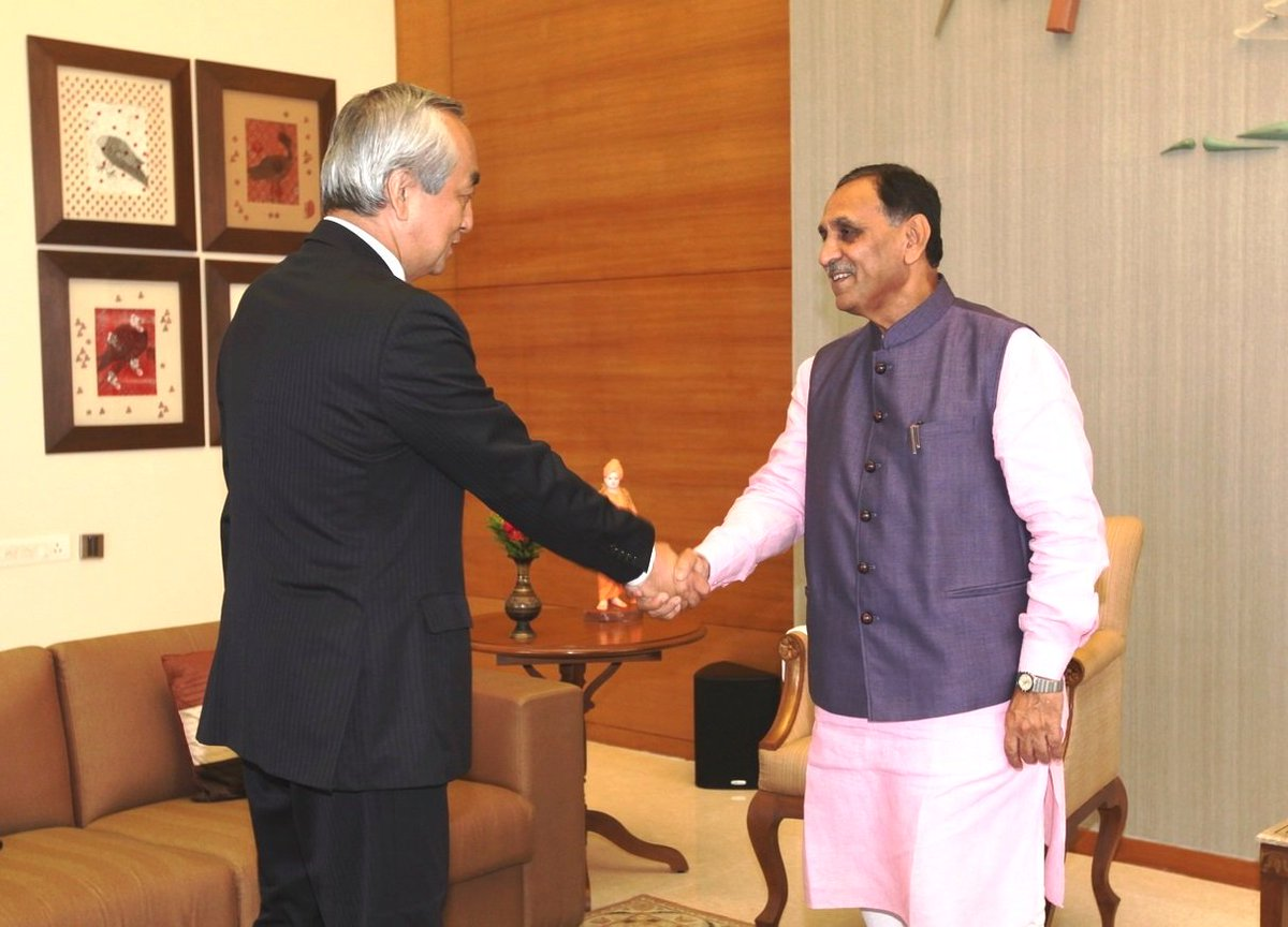 Ambassadors of Japan, France visit Gujarat CM