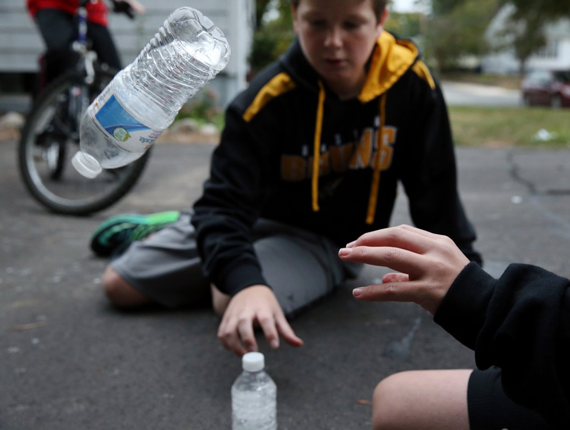 Bottle flipping: A fad for kids and an