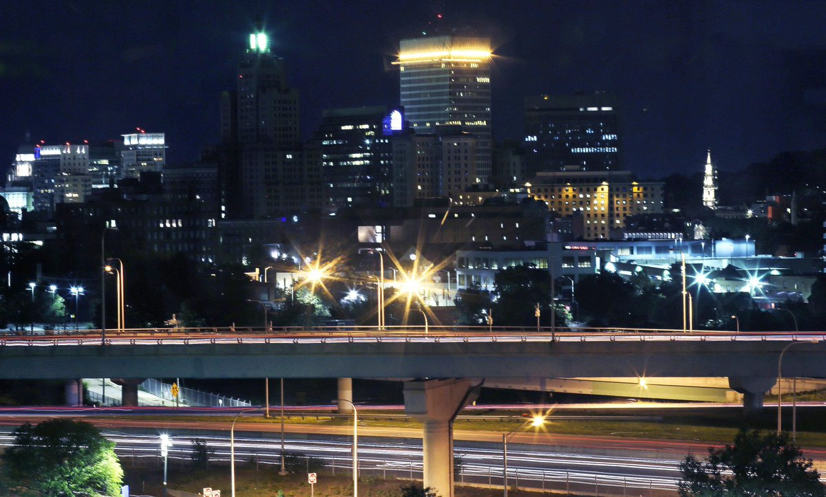 Providence city skyline blinks in nightly ritual to cheer up sick kids