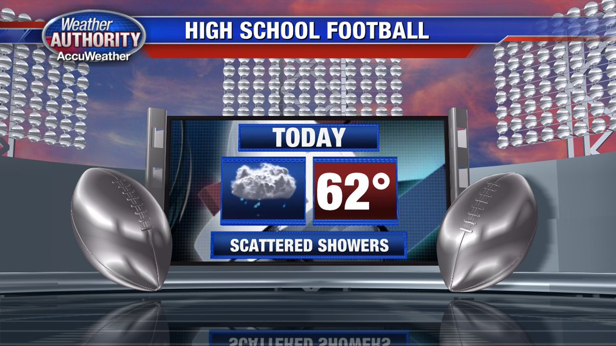 HS Football tonight carries with it a forecast of scattered showers. Cool & breezy. Keep warm & carry an umbrella!