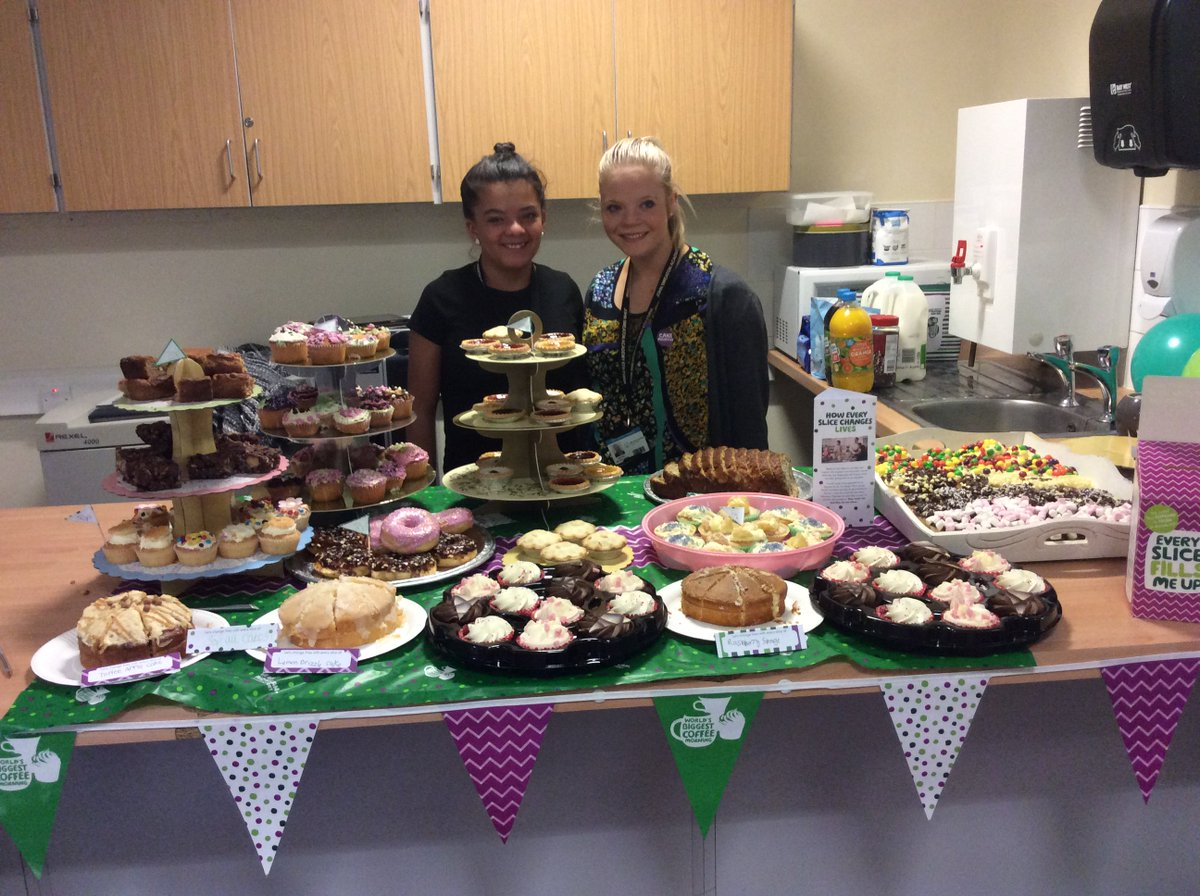 @SmeatonAcademy CLD pupils are holding a Macmillan Coffee Morning for staff today