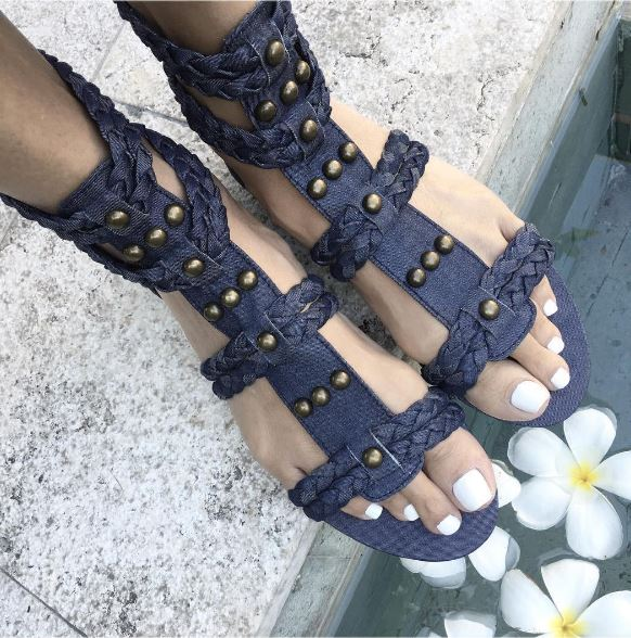 Just a bit excited to be playing poolside with Frangipani's & my new denim sandals! GE x 💙 https://t.co/uiJBsGNWB7 https://t.co/jk3AVJXi0w