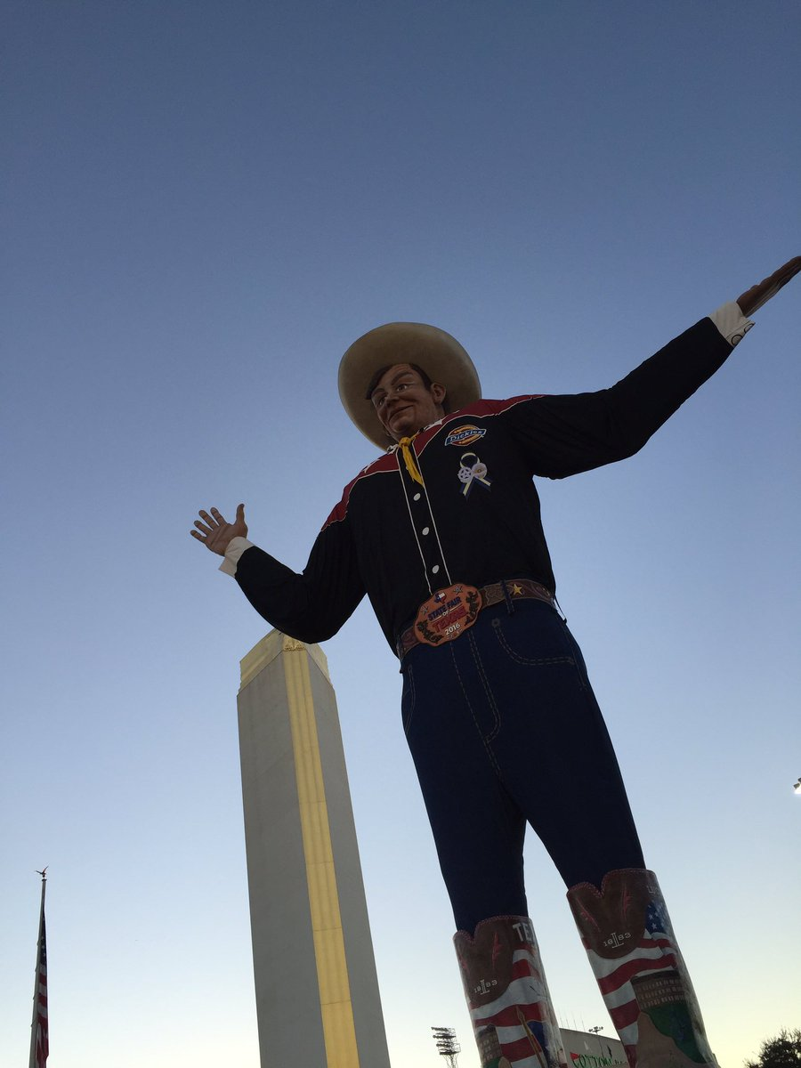 Howdy Folks!  It's Opening Day. Who is ready for the Great State Fair of Texas. #bigtex #statefairoftx https://t.co/70VgSpKS1u
