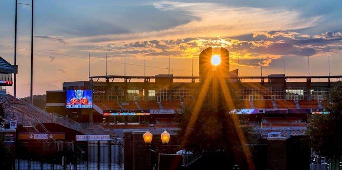 POTD: Beautiful photo of sun setting on Clemson's Oculus