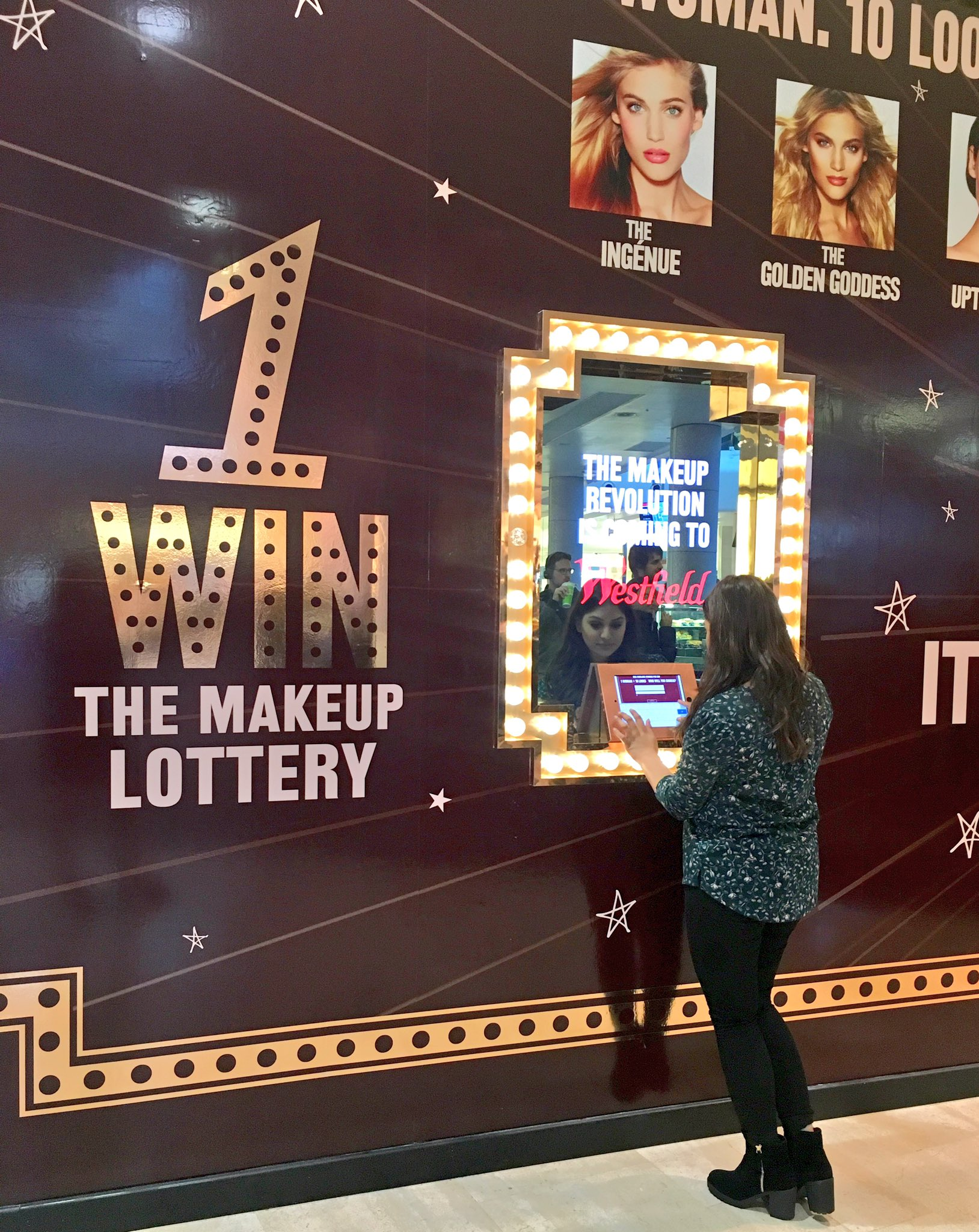Play for your golden ticket now @westfieldlondon!! WIN the #CharlotteTilbury makeup lottery ✨ #WIN https://t.co/NwR7i7OuOF