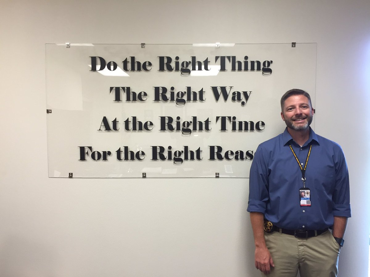 Sheriff Lewis' message permanently mounted in the MCSO poltwt
