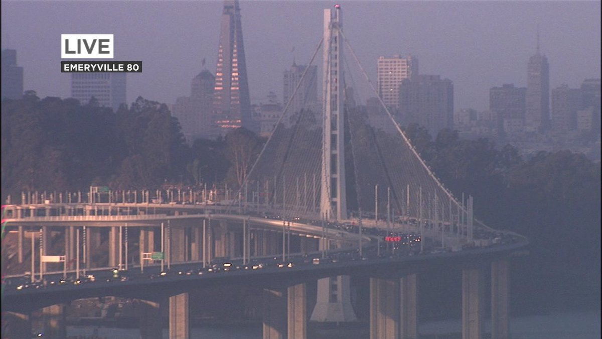 WB Bay Bridge moving much better now approaching TI, earlier vehicle fire has cleared.