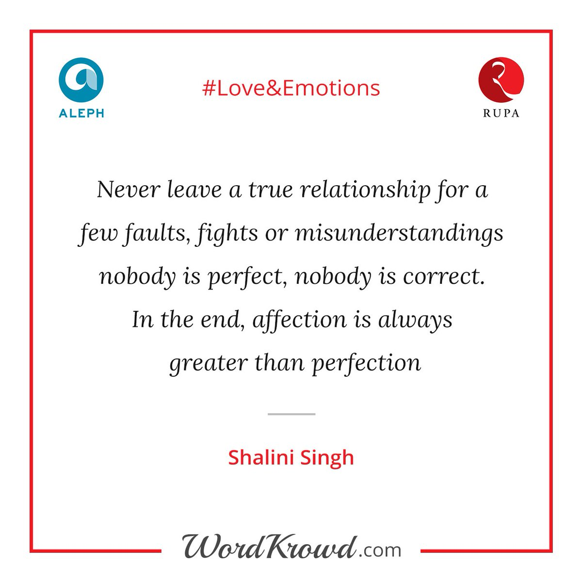 """Quotes About Affection Wordkrowd On Twitter """"quoteshalini Singh For The Contest"""