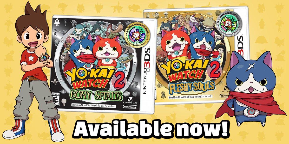 Yo-Kai Watch 2 disponible aux USA !