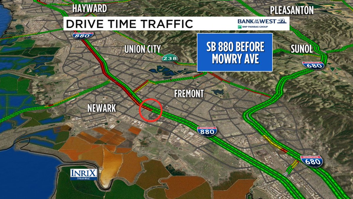 SB 880 motorcycle crash has cleared...jammed solid back to San Mateo Bridge.