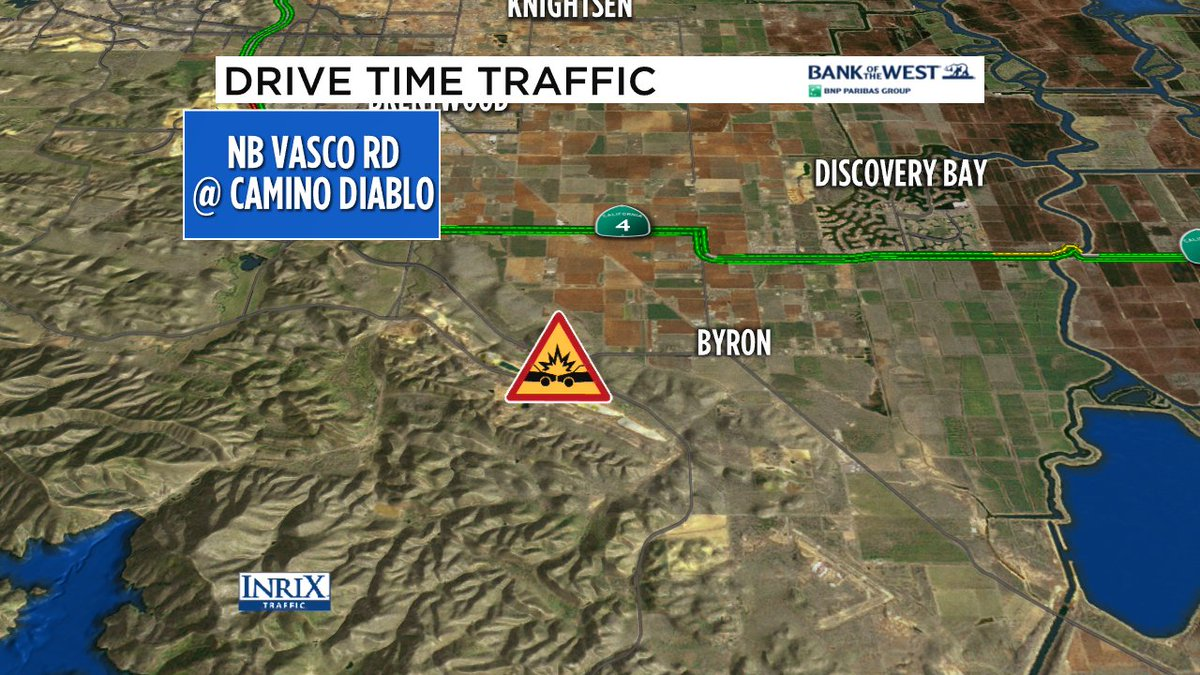 Bad crash just reported Vasco Rd at Camino Diablo- 2 to 3 vehicles involved, NB lanes blocked.