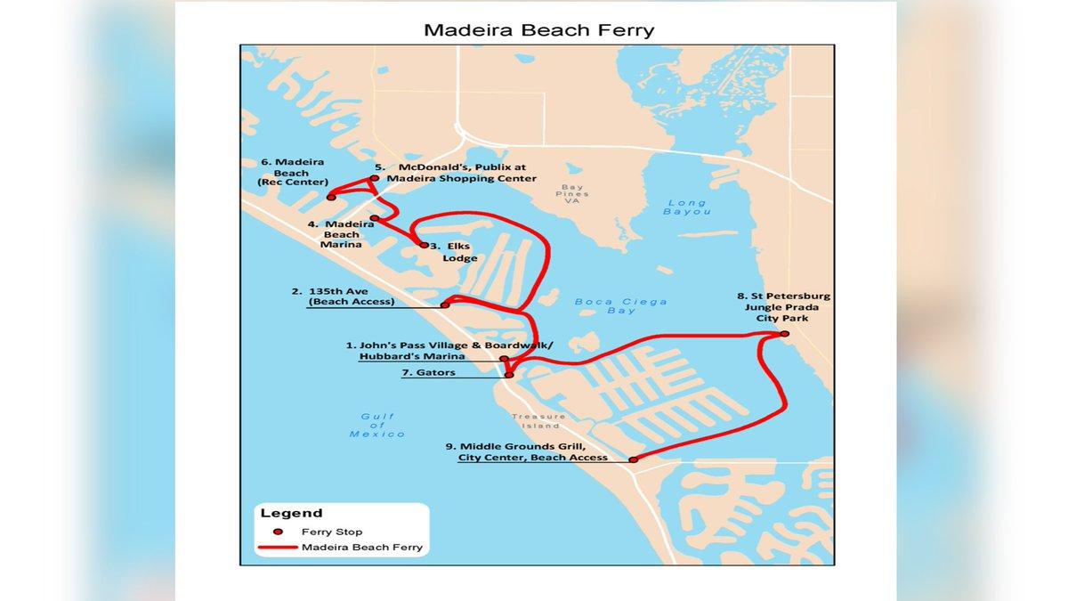 Madeira Beach water taxi starts service Saturday