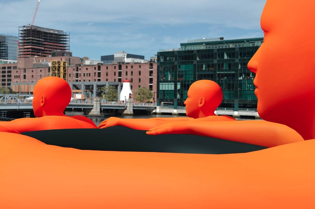 These orange 'Swimmers' are coming to Fort Point Channel next month