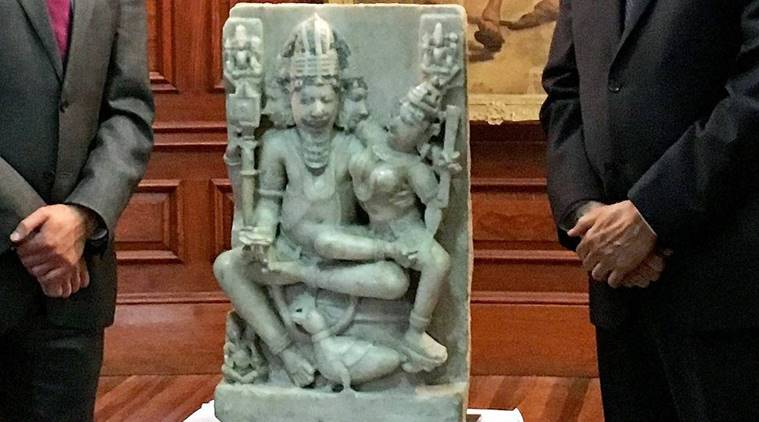 India gets possession of 12th-century Brahma sculpture stolen from Patan in Gujarat
