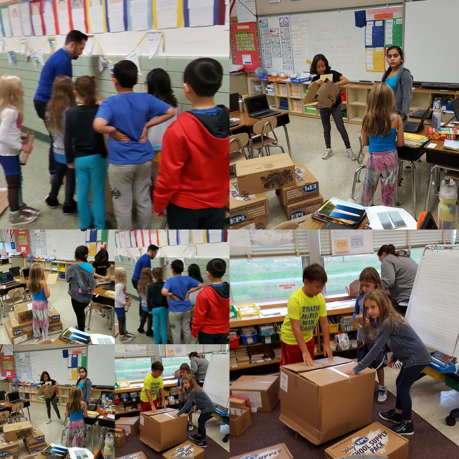 Hard at work #cardboardchallenge #seamanstrength @Ivysherman https://t.co/VAlSr8xH8V