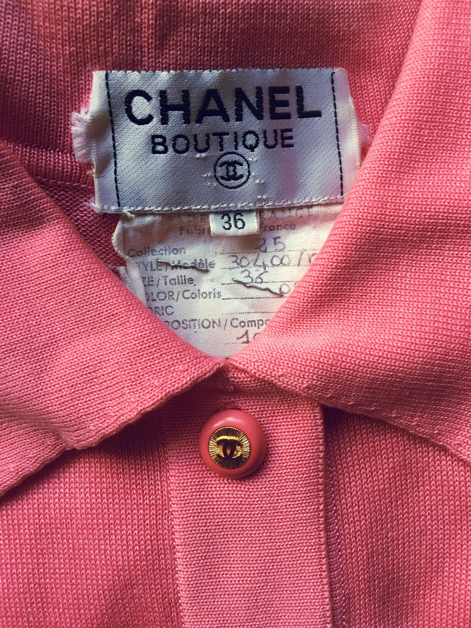 New vintage piece, baby pink Chanel jumpsuit 😍 https://t.co/jrtFGNuasL