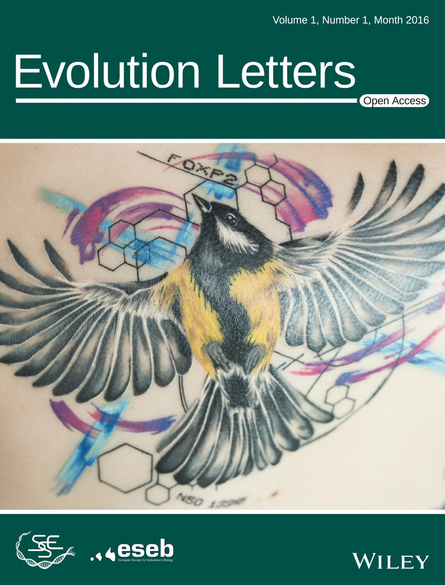 Evolution Letters On Twitter Fantastic Evolutionary