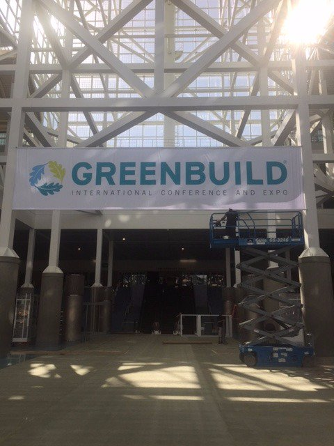 And so...it begins.... #Greenbuild16 https://t.co/0JFG2p4pRK