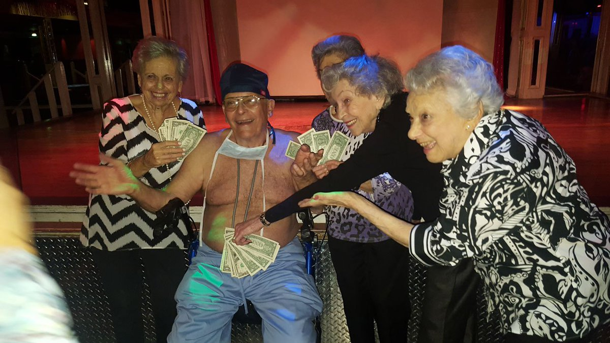 'Silver strippers' put on show for retirement community neighbors