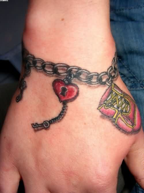 Schone Tattoo On Twitter Rot Sperre Herz Kette Armband Am