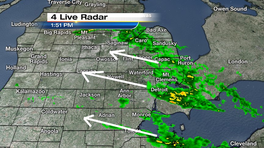 The next batch of rain is heading in from the east. Track it on our @local4casters app (FREE download in app store).