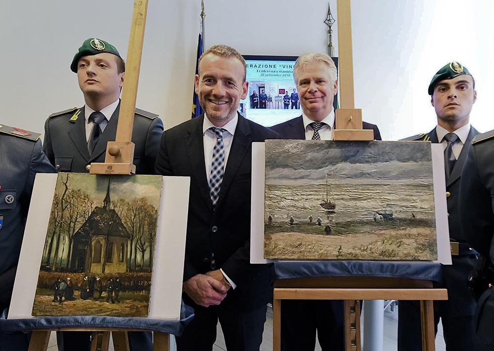 2 Van Gogh paintings stolen in 2002 recovered by Italian police.