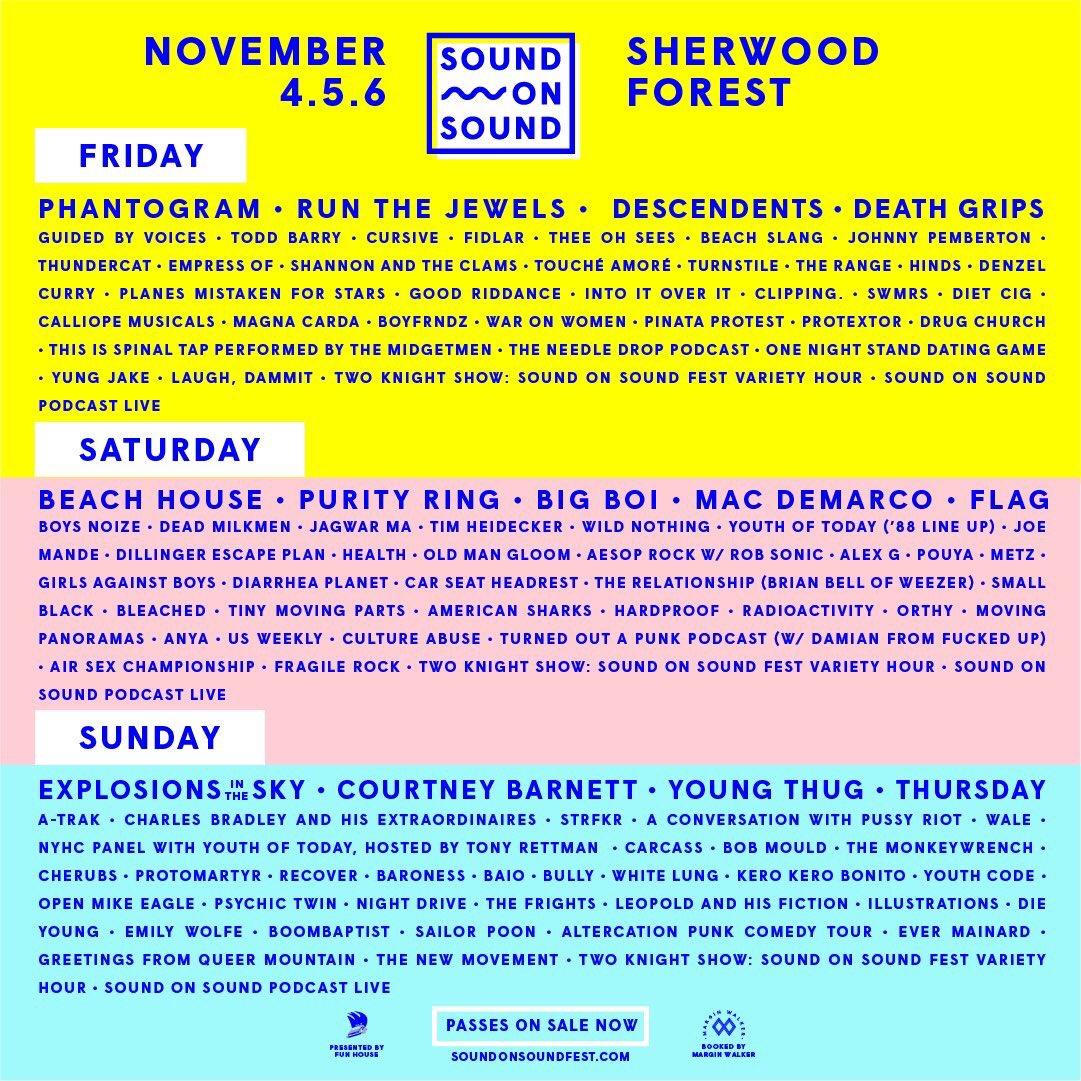 Sound On Sound Fest On Twitter Sound On Sound Fest Nov 4 6