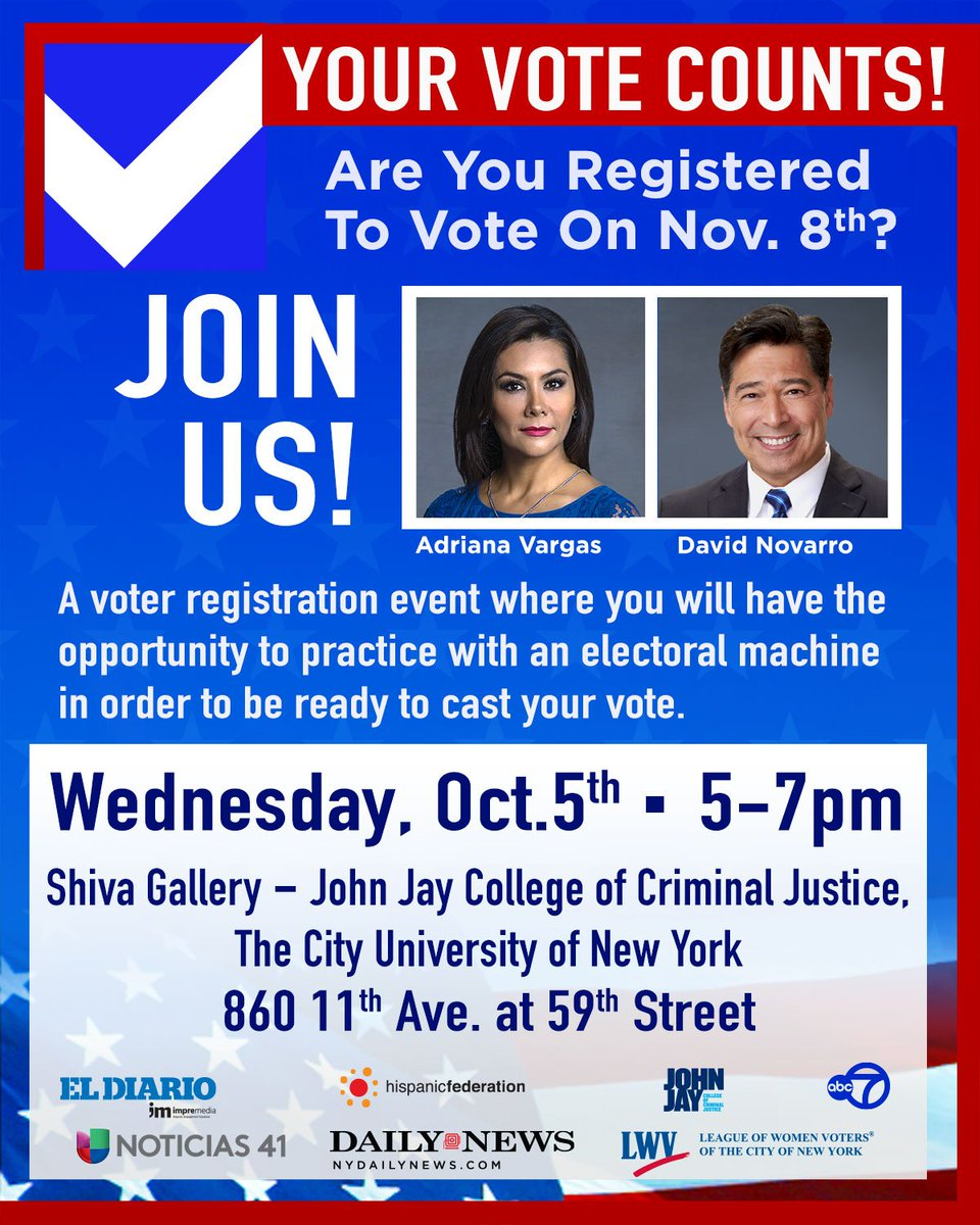 Are you registered to vote? Join us this Wednesday to make sure you are ready to make your voice count! ready2vote