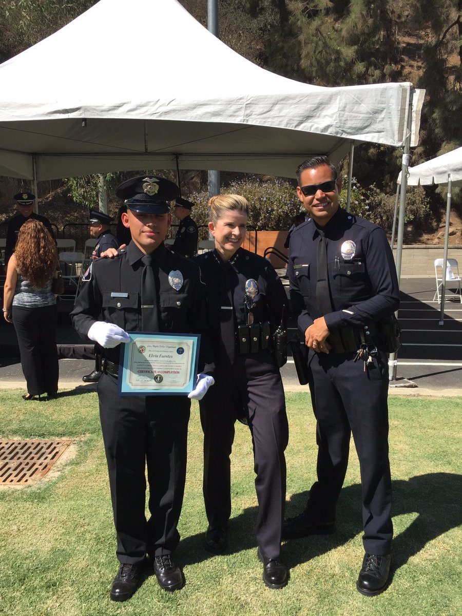gabriel ruiz on twitter congratulations to former lapd hwd cadet elvin fuego fuentes for completing detention officer academy youve made us all very