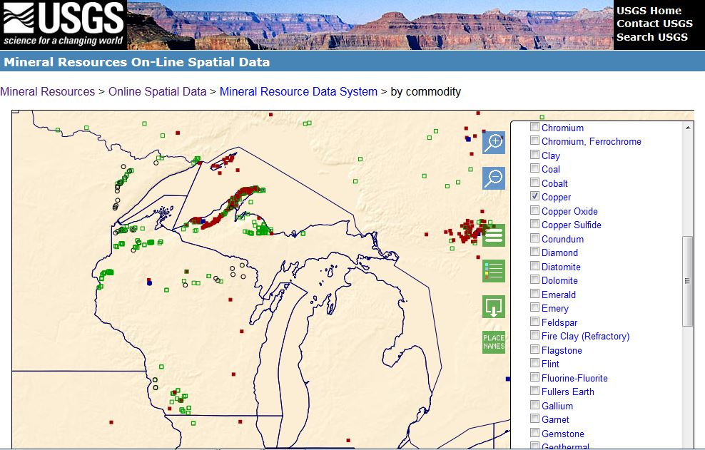 Gold In Michigan Map.Usgs On Twitter Wondering Where Alaska Gold Michigan Copper