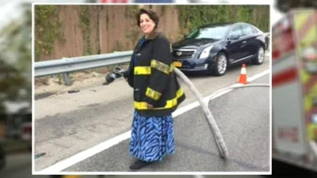 Long Island firefighter helps save a life after husband's funeral