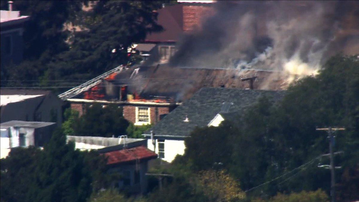 Fire in in the 2300 block of Channing in Berkeley