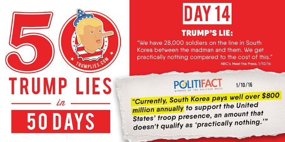 CorrectRecord: Day #14 in 50 days of #TrumpLies: https://t.co/Qg7We5WGdG