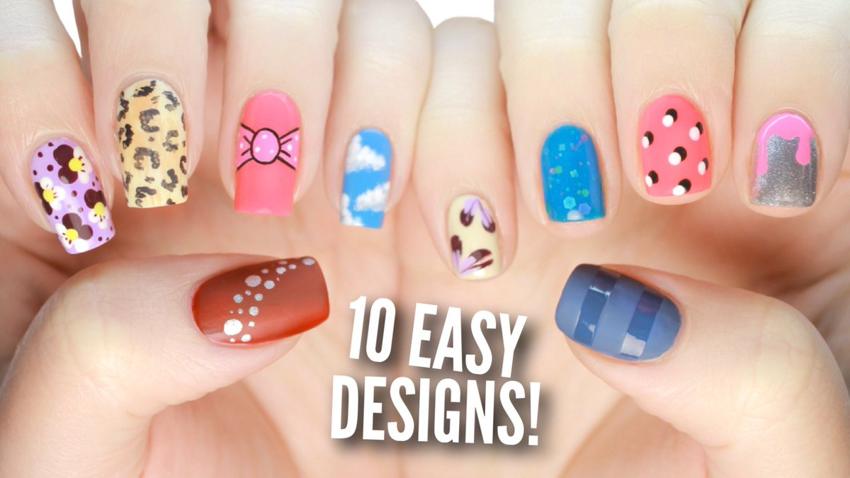 Cutepolish On Twitter New Video 10 Easy Nail Art Designs For Beginners Https T Co Zcdlxnodgn
